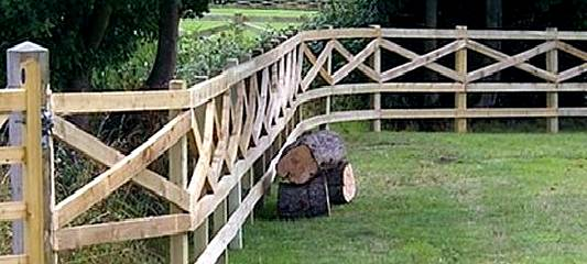 Cross Rail Post and Rail Fencing Hertfordshire